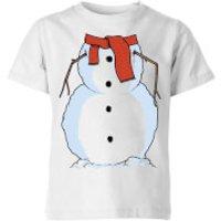 Snowman Kids T-Shirt - White - 11-12 Years - White