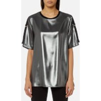 Versace Jeans Womens Metallic T-Shirt - Nero - S - Black