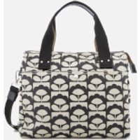 Orla Kiely Womens Zip Messenger Bag - Charcoal