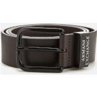 Armani Exchange Mens Leather Belt - Brown - W34 - Brown