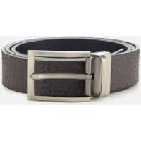 Armani Exchange Mens Branded Belt - Grey/Navy