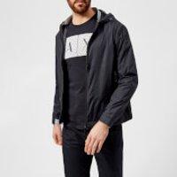 Armani Exchange Mens Zipped Lightweight Jacket - Dark Navy - L - Navy