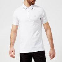 Armani Exchange Mens Small Logo Polo Shirt - White - S - White