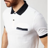 Armani Exchange Mens Pocket Polo Shirt - White - L - White