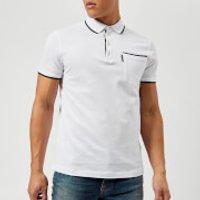 Armani Exchange Men's Tipped Polo Shirt - White - XXL - White