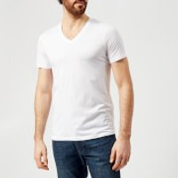 Armani Exchange Mens V-Neck T-Shirt - White - XXL - White