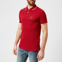 Armani Exchange Mens Tipped Polo Shirt - Chili Pepper - S - Red