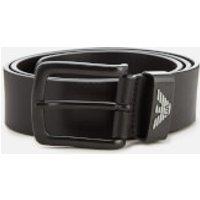 Emporio Armani Men's Vitello Mosso Leather Belt - Nero - 95cm/W38 - Black
