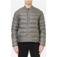 Michael Kors Mens Quilted Bomber Jacket - Slate Grey - M - Grey