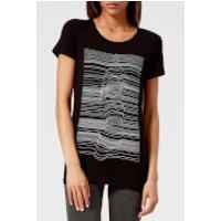 M-Life Womens Yogi Strata Short Sleeve T-Shirt - Black - XS - Black