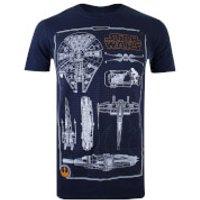 Star Wars Men's Rebel Schematics T-Shirt - Navy - XL - Blue