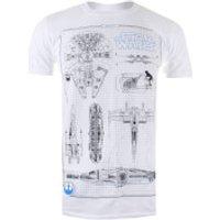 Star Wars Men's Rebel Schematics T-Shirt - White - M - White