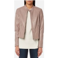 Belstaff Women's Mollison Leather Biker Jacket - Ash Rose - IT 42/UK 10 - Pink