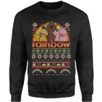 Rainbow Christmas Sweatshirt - Black - XL - Black
