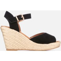Miss KG Women's Paisley Suedette Wedged Espadrille Sandals - Black - UK 4 - Black
