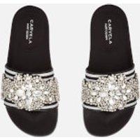 Carvela Carvela Women's Kath Slide Sandals - Black/White - UK 3 - Black