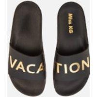 Miss KG Women's Rave Slide Sandals - Black - UK 4 - Black
