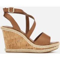 Carvela Women's Kable Leather Wedged Sandals - Tan - UK 3 - Tan