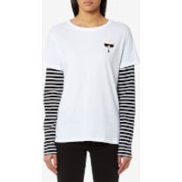 Karl Lagerfeld Women's Ikonik Emoji Karl T-Shirt - White - L - White