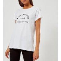 Karl-Lagerfeld-Womens-Address-TShirt-White-M-White