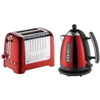 Dualit Jug Kettle and 2 Slot Toaster Bundle - Metallic Red