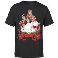 Star Wars Christmas Jedi Carols Black T-Shirt - XXL - Black