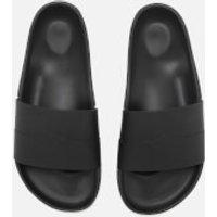 Hunter Men's Original Moustache Slide Sandals - Black/Dark Slate - UK 7 - Black