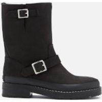 Hunter Men's Original Leather Biker Boots - Black - UK 6 - Black