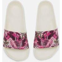 Hunter Womens Original Jungle Print Slide Sandals - White - UK 4 - White