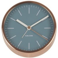 Karlsson Minimal Alarm Clock - Blue Jeans Copper Plated - Karlsson Gifts