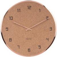 Karlsson Modest Cork Wall Clock - Copper - Karlsson Gifts