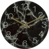 Karlsson Small Glass Marble Wall Clock - Black - Karlsson Gifts