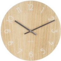 Karlsson Small Glass Wall Clock - Light Wood - Karlsson Gifts