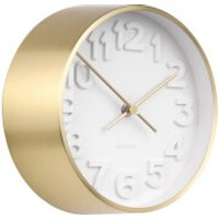 Karlsson Stout Wall Clock - Gold Plated - Karlsson Gifts