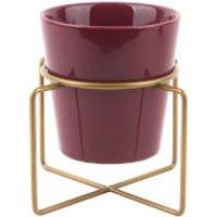 PT Ceramic Coy Plant Pot - Burgundy Red - Red Gifts