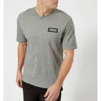 Puma Mens Rebel Short Sleeve T-Shirt - Grey Heather - S - Grey