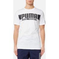 Puma Mens Style Athletic Graphic Short Sleeve T-Shirt - Puma White - XL - White