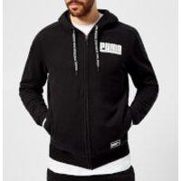 Puma Men's Style Athletics Full Zip Hoody - Cotton Black - M - Black
