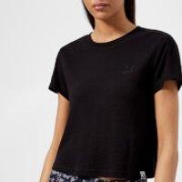 Puma Womens Classics Structured Short Sleeve T-Shirt - Cotton Black - L/UK 14 - Black