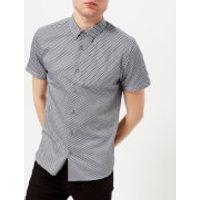 Ted Baker Mens Gudvu Geo Print Short Sleeve Shirt - Navy - 5/XL - Navy