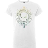 Harry Potter Wingardium Leviosa Swish And Flick Men's White T-Shirt - XL - White - Harry Potter Gifts