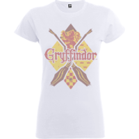 Harry Potter Gryffindor Women's White T-Shirt - XXL - White - Harry Potter Gifts