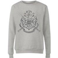 Harry Potter Draco Dormiens Nunquam Titillandus Women's Grey Sweatshirt - XXL - Grey - Harry Potter Gifts