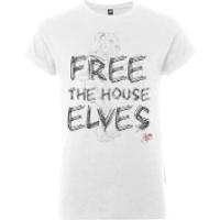 Harry Potter Free The House Elves Womens White T-Shirt - L - White