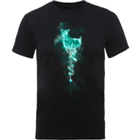 Harry Potter Doe Always Patronus Men's Black T-Shirt - XL - Black