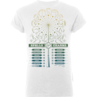 Harry Potter Spells And Charms Women's White T-Shirt - XXL - White - Charms Gifts