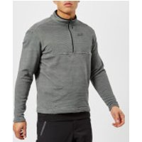 Jack Wolfskin Mens Arco 1/4 Zip Fleece - Black Stripes - XL - Black