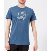 Jack Wolfskin Men's Marble Paw Short Sleeve T-Shirt - Ocean Wave - M - Blue