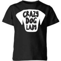 Crazy Dog Lady Kids' T-Shirt - Black - 9-10 Years - Black - Dog Gifts