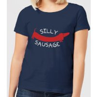 Silly Sausage Women's T-Shirt - Navy - M - Navy - Silly Gifts